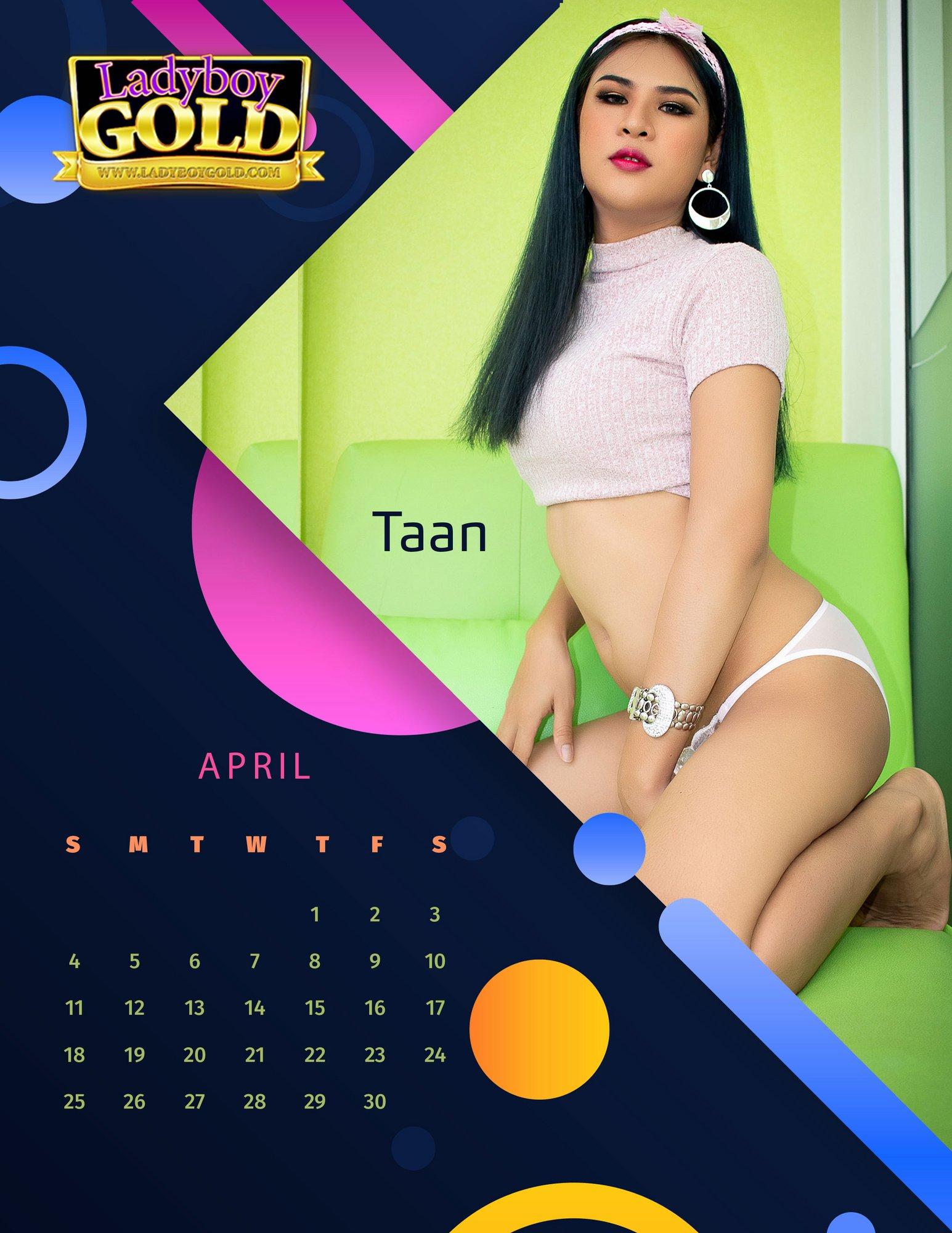 Ladyboy Gold Calendar 2021