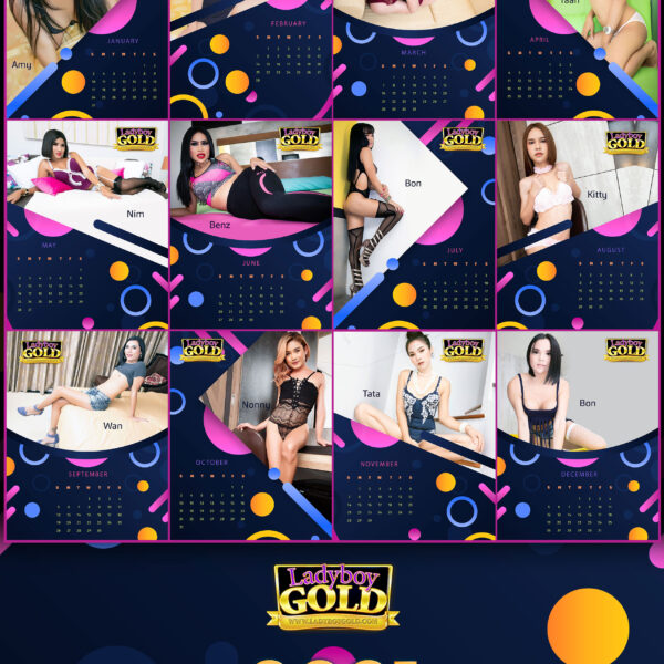 Ladyboy Gold 2021 Calendar