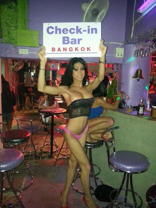 check in bar in Bangkok Thailand