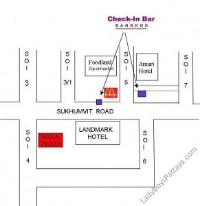 Check in Bar Ladyboy Map