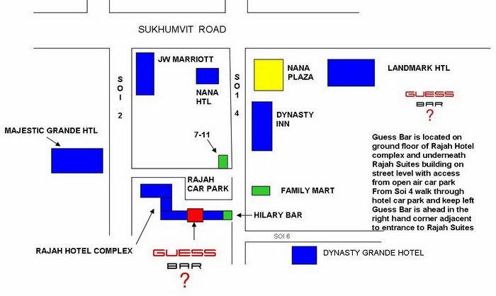 Ladyboy Map For Guess Bar Bangkok