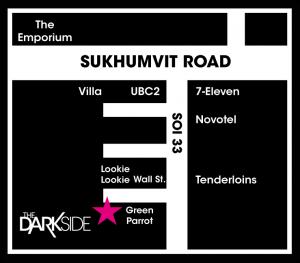 Darkside Ladyboy Bar Bangkok Thailand Lounge Map