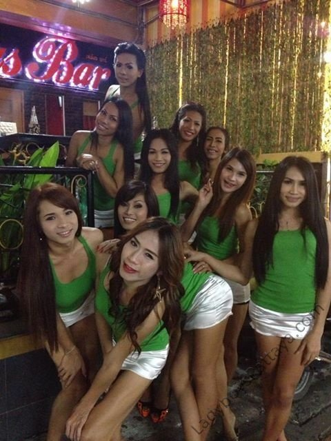 Famous Ladyboy Bar Pattaya Staff